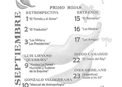"""También en Colombia (en Bogotá) haciendo """"Juicio a los 50"""" en el Teatro """"La Libélula"""" en el marco de la Muestra de Narración Oral """"Encuentémonos""""."""